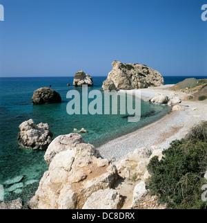 Aphrodite's Rock (Petra Tou Romiou), Cyprus - Stock Photo