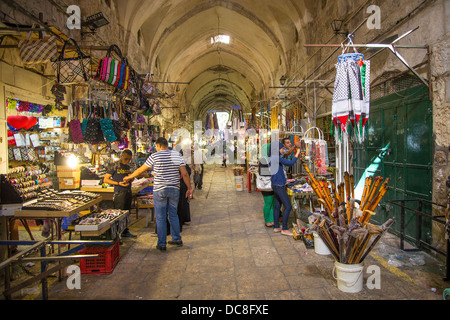 souk market in jerusalem old town israel - Stock Photo