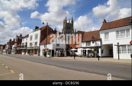 Tenterden High Street,  Kent,  England, UK, GB - Stock Photo