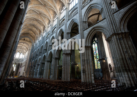 ... Rouen. The Cathedral Of Notre Dame, The Cathedral Church Dedicated To  Our Lady,