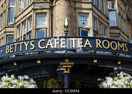 Bettys Cafe Tea Rooms, Parliament Street, Harrogate, North Yorkshire, England, UK - Stock Photo