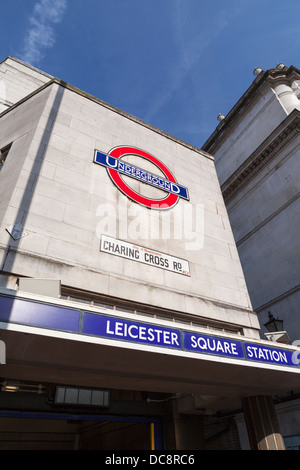 Leicester square tube station, London, England - Stock Photo