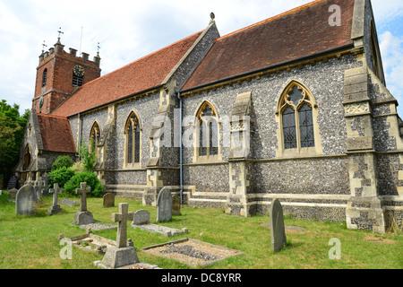 St James The Less parish church, Church Road, Pangbourne, Berkshire, England. United Kingdom - Stock Photo