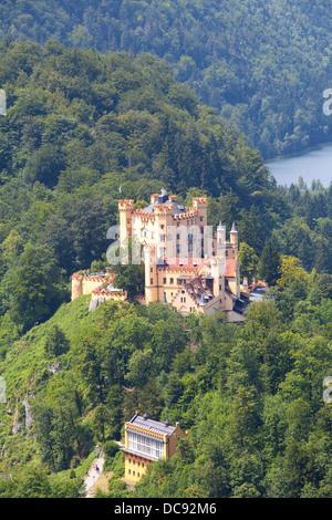 Europe, Germany, Bavaria, Schwangau, Hohenschwangau Castle - Stock Photo
