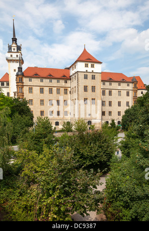 Schloss Hartenfels, Torgau, Saxony, Germany - Stock Photo