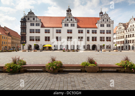 Rathaus, Torgau, Saxony, Germany - Stock Photo