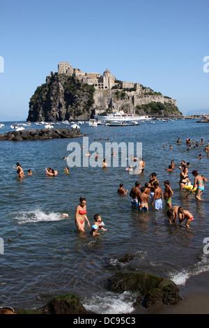 Castello Aragonese, Ischia, Italia, Europe, Italy, Campania, Ischia Island, Italy, tourism - Stock Photo