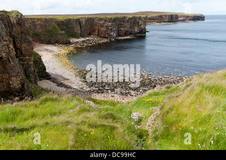 Cliffs at Mull Head on the Deerness peninsula, Mainland, Orkney. - Stock Photo