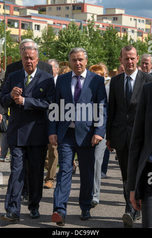 Berlin, Germany. August 13th 2013.Mayor of Berlin Klaus Wowereit(SPD) presides over the ceremony of condolence to - Stock Photo