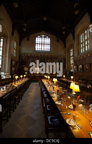 The Dining Hall at Christ Church College, Oxford University, England - Stock Photo