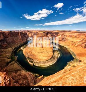 Famous view of horseshoe Bend, USA - Stock Photo