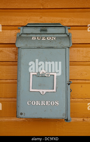 Old post box in the hamlet of Biran, Cuba - Stock Photo