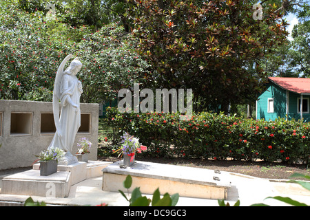 Fidel Castro's parents grave in the grounds of family agricultural estate in Biran. - Stock Photo