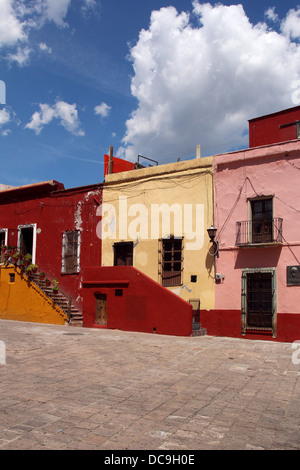 Colorful mexican building - Stock Photo