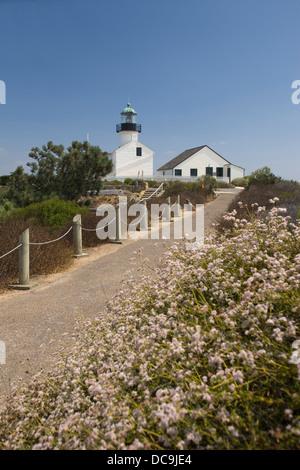 OLD POINT LOMA LIGHTHOUSE POINT LOMA SAN DIEGO CALIFORNIA USA - Stock Photo