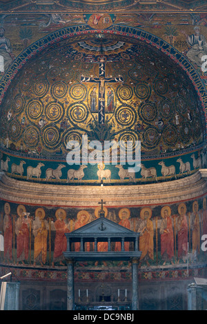 Basilica of Saint Clement, Basilica di San Clemente al Laterano, Rome, Italy - Stock Photo
