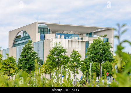 Backside of the Chancellery of the Federal Republic of Germany, Berlin - Stock Photo