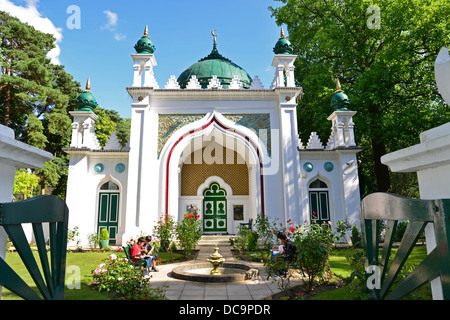 The 19th century Shah Jahan Mosque, Oriental Road, Woking, Surrey, England, United Kingdom - Stock Photo