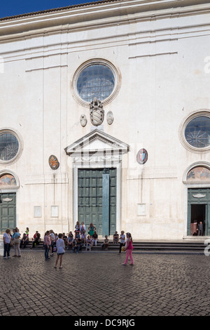 Santa Maria sopra Minerva church, Rome, Italy - Stock Photo