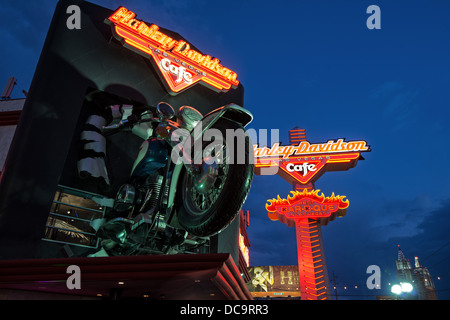 Detail of facade of Harley Davidson Cafe on the Strip, Las Vegas Boulevard, Las Vegas, Nevada, USA - Stock Photo