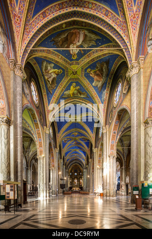 nave, Santa Maria sopra Minerva church, Rome, Italy - Stock Photo