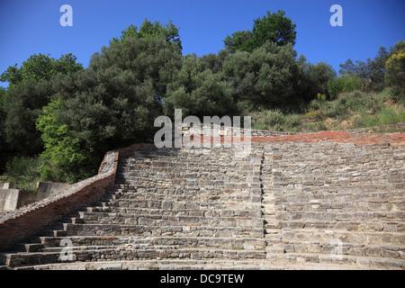Apollonia, Illyria, a ancient greek city in Albania, the Odeon - Stock Photo