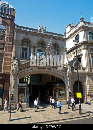 Entrance to Burlington Arcade on Piccadilly in London's West End - Stock Photo