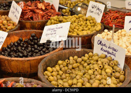 Food market, Ajaccio, Corsica, France - Stock Photo