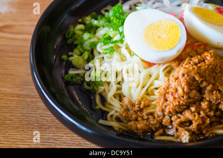 noodle with spicy ground pork sauce japanese food style - Stock Photo
