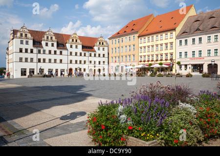 Marktplatz, Torgau, Saxony, Germany - Stock Photo