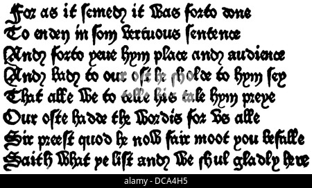 Geoffrey Chaucer, ca. 1343 - 1400, part of the Canterbury Tales, 14th Century - Stock Photo