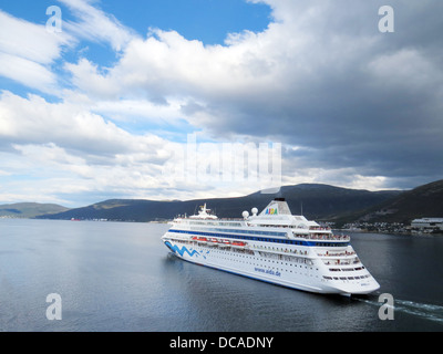 AIDA CARA German cruise ship in Norwegian waters in 2013. Photo Tony Gale - Stock Photo