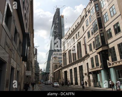 Leadenhall building under construction London July 2013 - Stock Photo