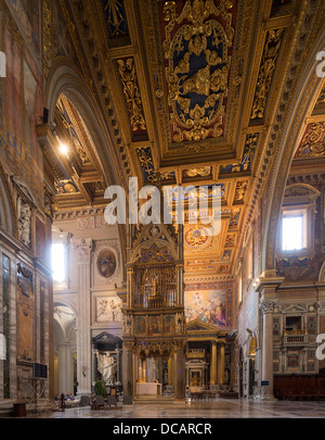 chancel, Papal Archbasilica of St. John Lateran, Arcibasilica Papale di San Giovanni in Laterano, Rome, Italy - Stock Photo