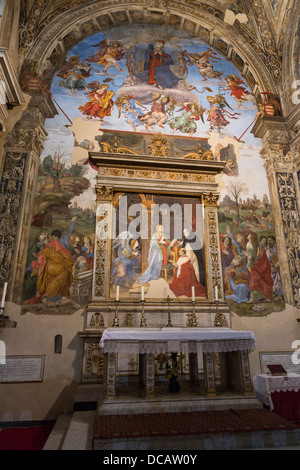 The Carafa Chapel, Santa Maria sopra Minerva church, Rome, Italy - Stock Photo