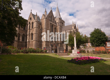 Rochester Cathedral In The Medway Town City Of Rochester Kent England UK - Stock Photo