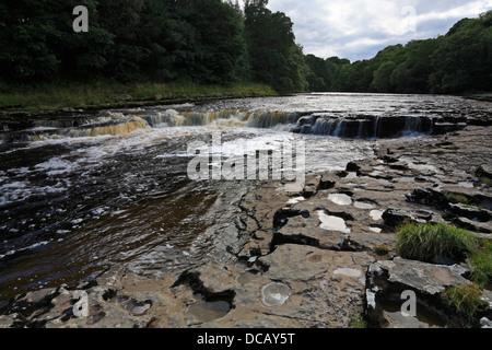 Aysgarth Middle Falls, Wensleydale, North Yorkshire, Yorkshire Dales National Park, England, UK, - Stock Photo