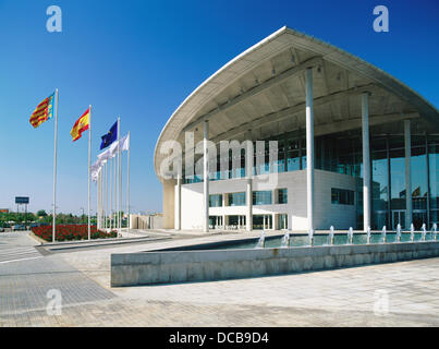 Palacio de Congresos (Convention Center), by Norman Foster. Valencia Stock Ph...