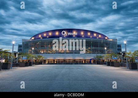 O2 arena at night,O2 Platz,Berlin,Germany - Stock Photo