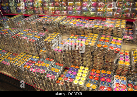 Fancy candles on sell in shop at Chatuchak Weekend Market , Bangkok , Thailand - Stock Photo