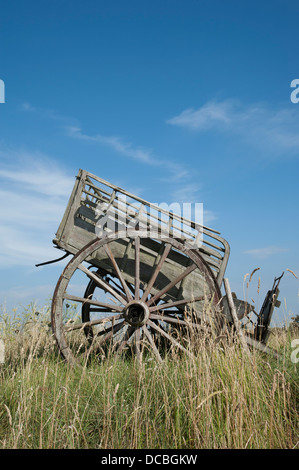 An Old Farm Cart Sitting In A Field In The French Countryside Dcbgkw on Old Deseret Village Salt Lake City