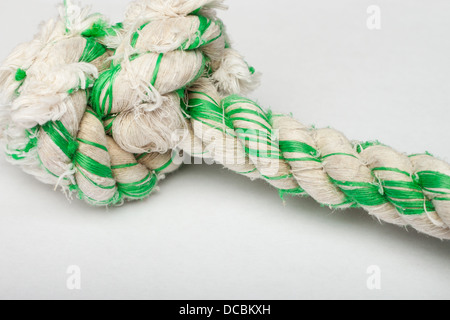 Close up shot of dog's rope toy - Stock Photo