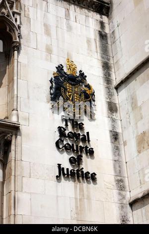 the royal courts of justice law courts central London England UK - Stock Photo