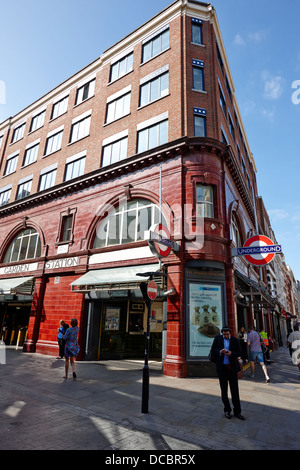 covent garden underground station London England UK - Stock Photo