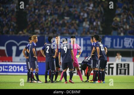 Japan team group (JPN), AUGUST 14, 2013 - Football / Soccer :  KIRIN Challenge Cup 2013 match  between Japan 2-4 - Stock Photo