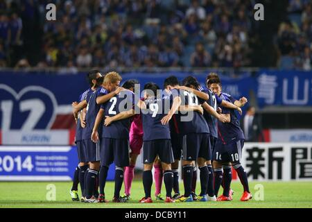 Japan team group (JPN), AUGUST 14, 2013 - Football / Soccer : KIRIN Challenge Cup 2013 match between Japan 2-4 Uruguay - Stock Photo