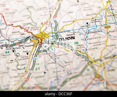 MAP OF DIJON FRANCE Stock Photo Royalty Free Image 53470942 Alamy