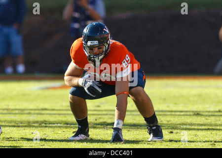 Virginia Cavaliers tight end Colter Phillips (89) lines up for a play against the Georgia Tech Yellow Jackets during - Stock Photo