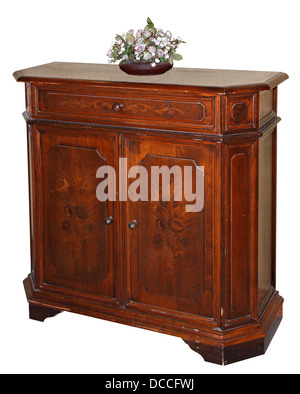 Hand crafted classic wooden dresser - Stock Photo