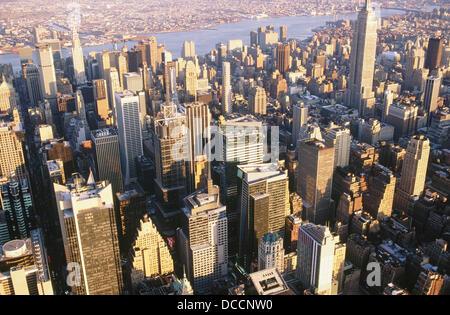 Midtown office buildings, Manhattan. New York City, USA - Stock Photo